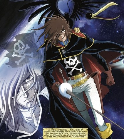 French Artist Jérôme Alquié and Captain Harlock - Memories of the Arcadia