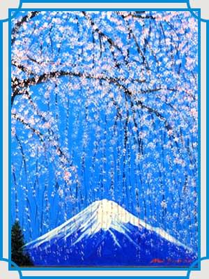 八代亜紀 絵 しだれ桜