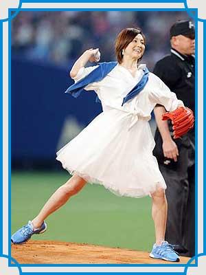 米倉涼子 始球式 2015年
