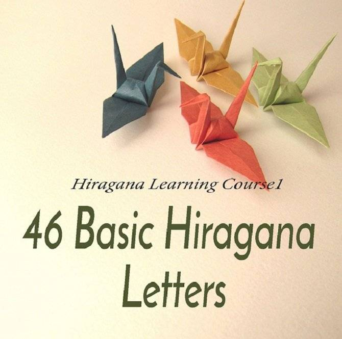 46 Basic Hiragana Alphabet Letters