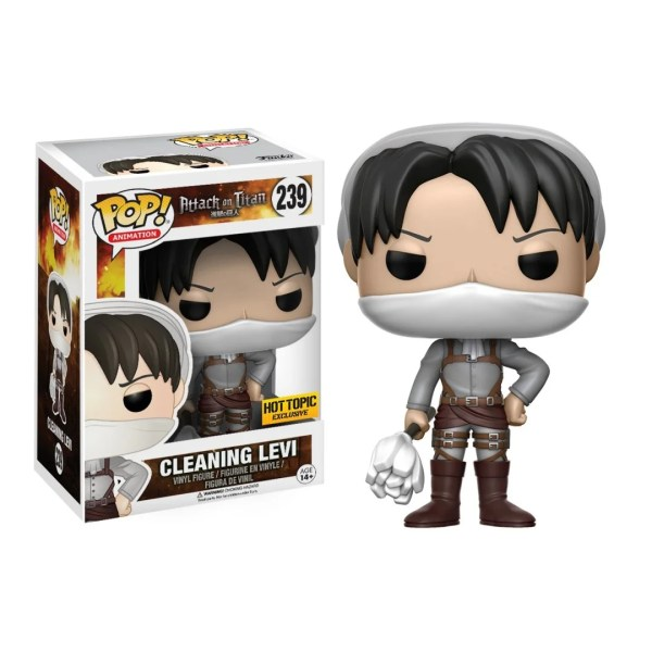 funko pop animation attack on titan cleaning levi