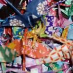 Origami Kraniche aus Papier falten