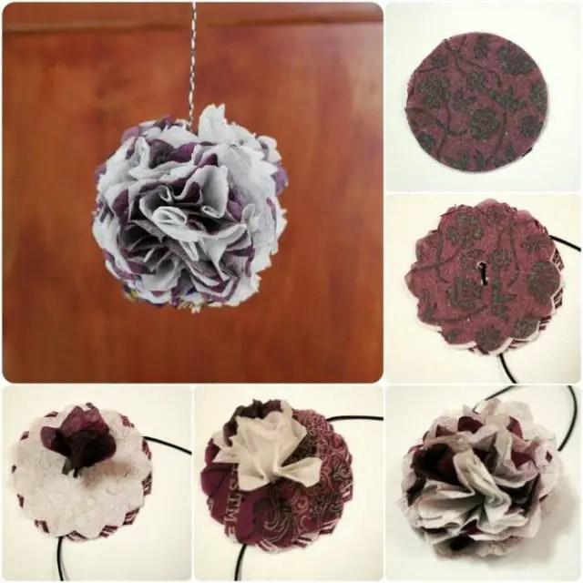 Anleitung Papierblumen aus Servietten basteln