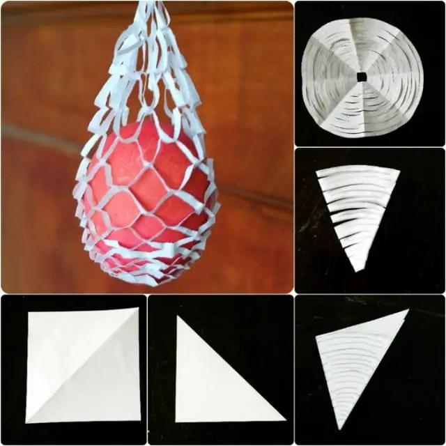 Anleitung Osterkörbchen aus Papier basteln