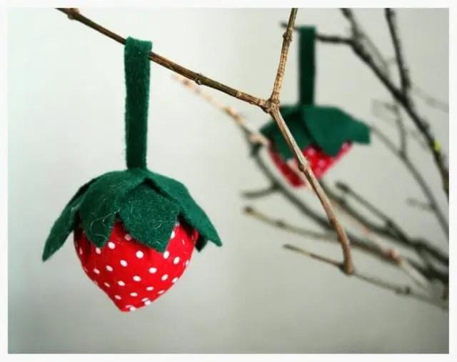 DIY Anleitung Erdbeere aus Stoff nähen