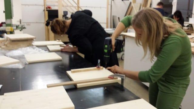 Hartz4Möbel Workshop Berliner Hocker
