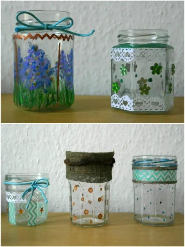 Recycling - Basteln mit Gläsern