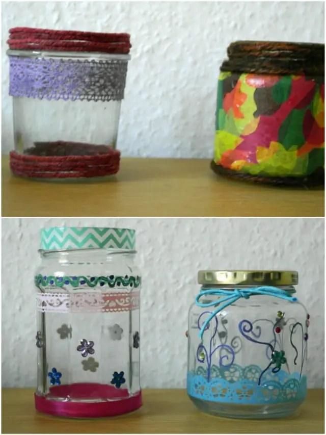 Upcycling - Basteln mit Gläsern DIY
