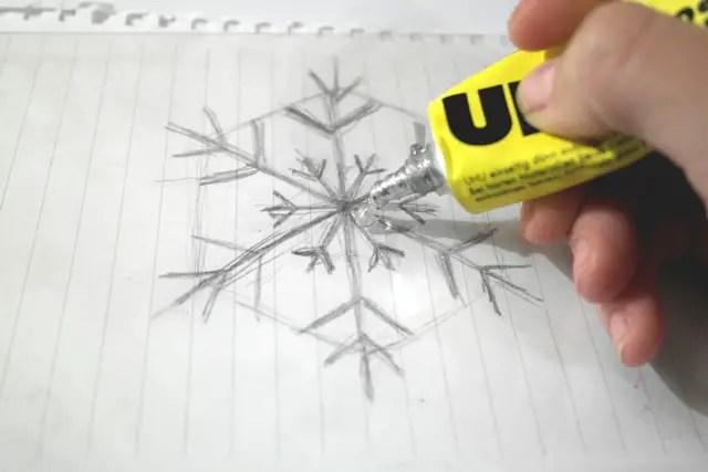 DIY Fensterdekoration - Winter - Schneeflocke