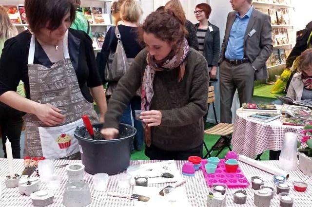 Basteln mit Beton  - Leipziger Buchmesse 2014
