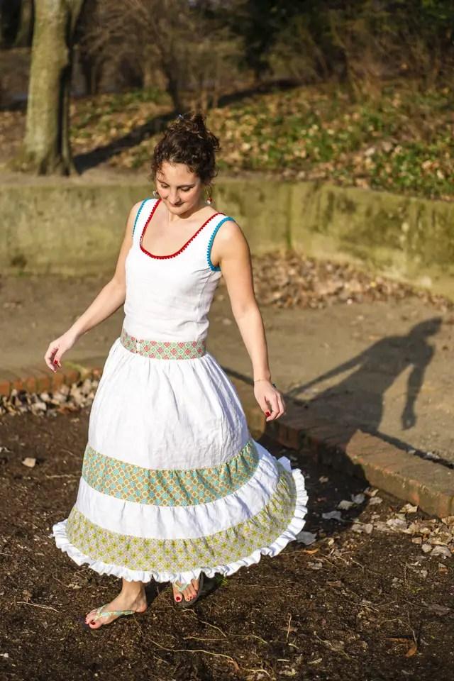 Kleid mit Stufenrock - Selber nähen mit Anleitung