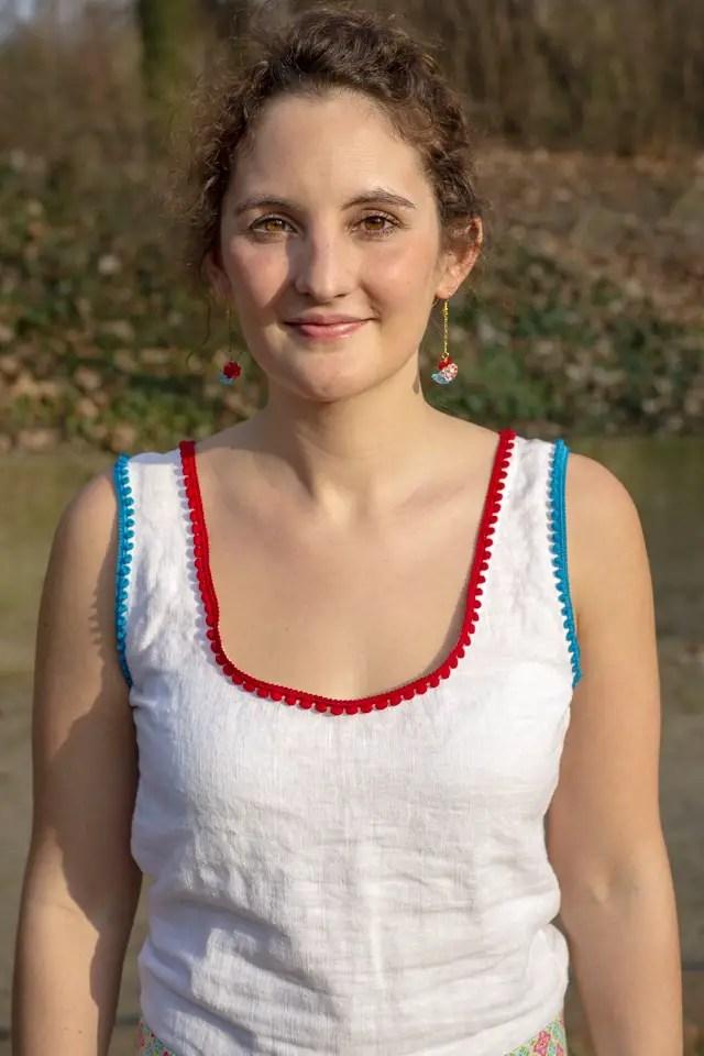 DIY - Genähtes Sommerkleid mit Bommelborte
