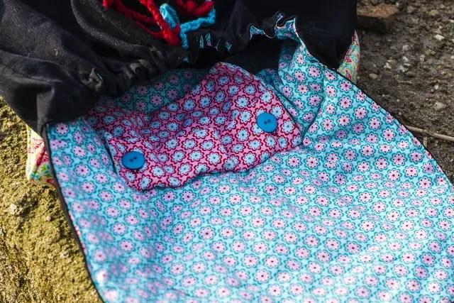 DIY Rucksack von innen mit kleiner Tasche