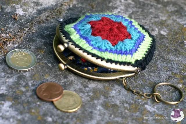 DIY Kostenlose Anleitung Geldbeutel häkeln und nähen