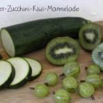 Merkwürdigkeiten aus der Küche oder warum es jetzt Zucchini-Stachelbeer-Kiwi-Marmelade gibt