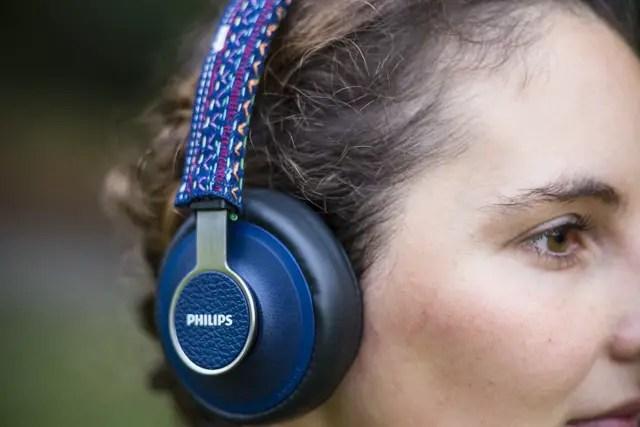 Philips Downtown Kopfhörer im Ethno-Stil bestickt