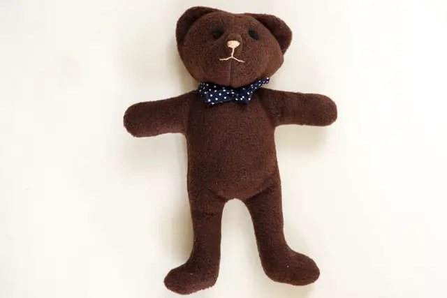 Teddybär nähen - fertiger Teddybär
