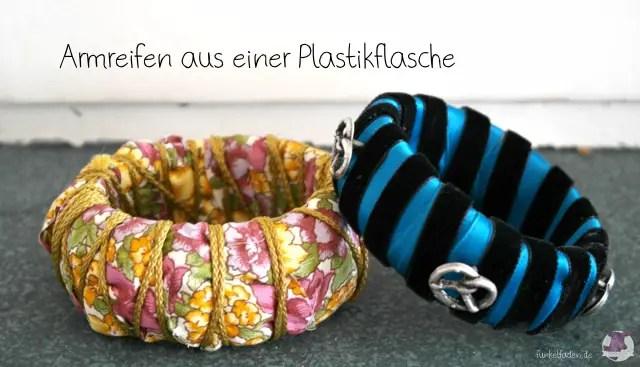 Basteln mit Plastikflaschen - Armbänder