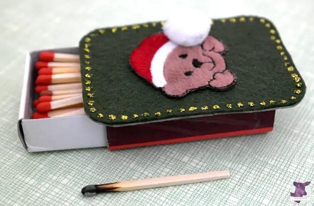 DIY Weihnachtsdeko selber machen - Streichholzschachteln bekleben