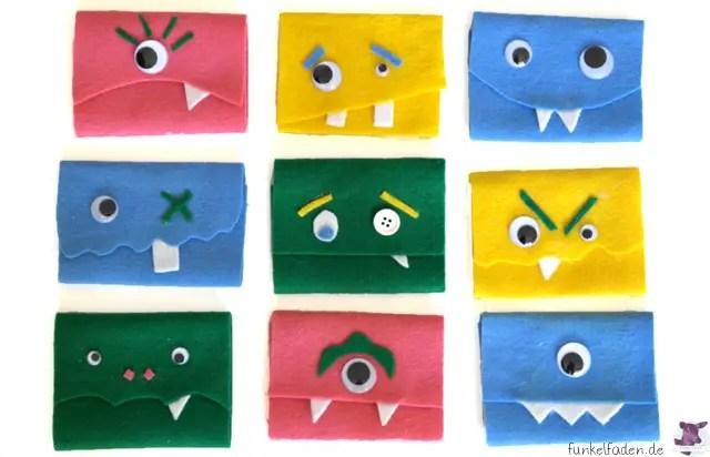 Einladungskarten mit Monstern für Kindergeburtstag