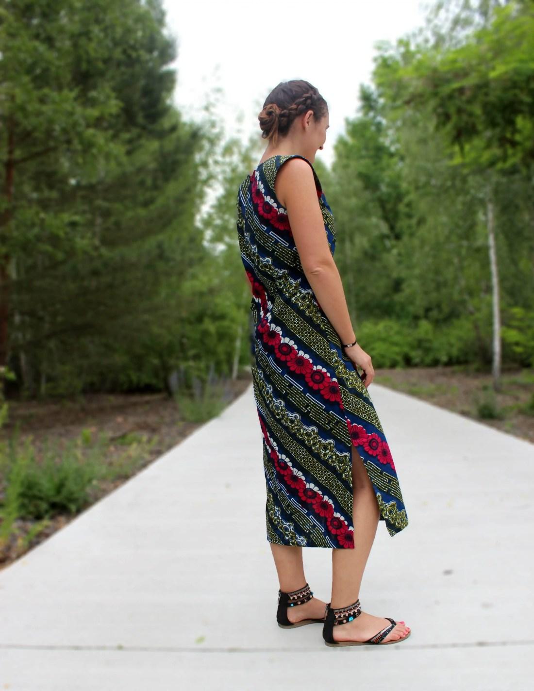 Schnittmuster für langes Kleid