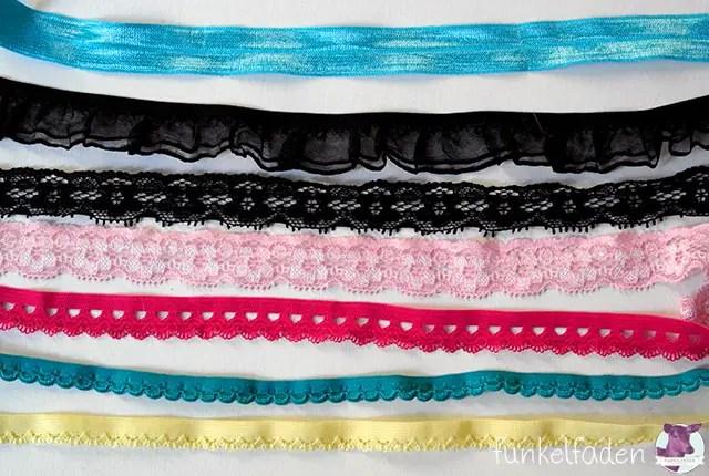 Die richtigen Gummibänder zum Nähen von Unterwäsche