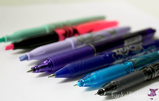 Handlettering mit Frixion Stiften
