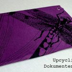 Upcycling – Dokumentenmappe aus T-Shirt + Pappe