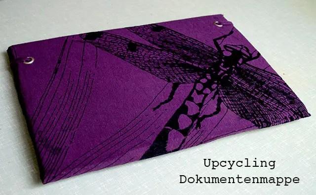 DIY - Upcycling Dokumentenmappe aus T-Shirt, Pappe und Katalog
