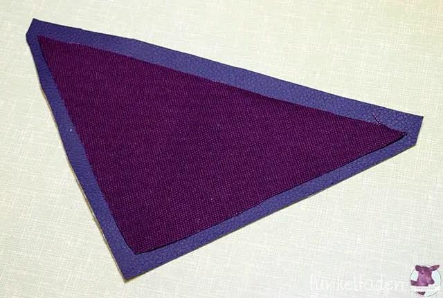 Anleitung - Dreieck für Notebooktasche nähen