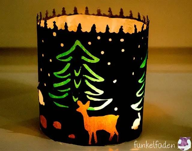Basteln für Weihnachten - Licht mit Transparentpapier
