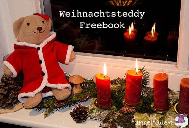 Freebook Teddybär nähen für Weihnachten
