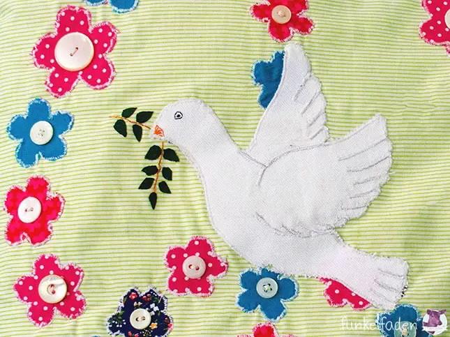 Applizieren Friedensmotive
