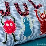 Genäht – Kissen mit Monstern und eigenem Namen