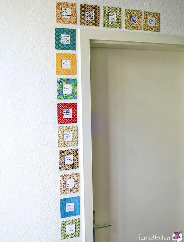 Wunschrahmen über Tür - Dekoration basteln