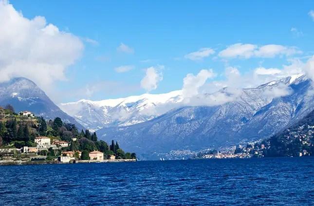 Schnee auf den Bergen am Comer See - Italien 2016