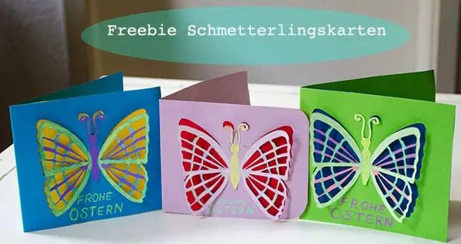 Plotterfreebie - Schmetterlingskarte