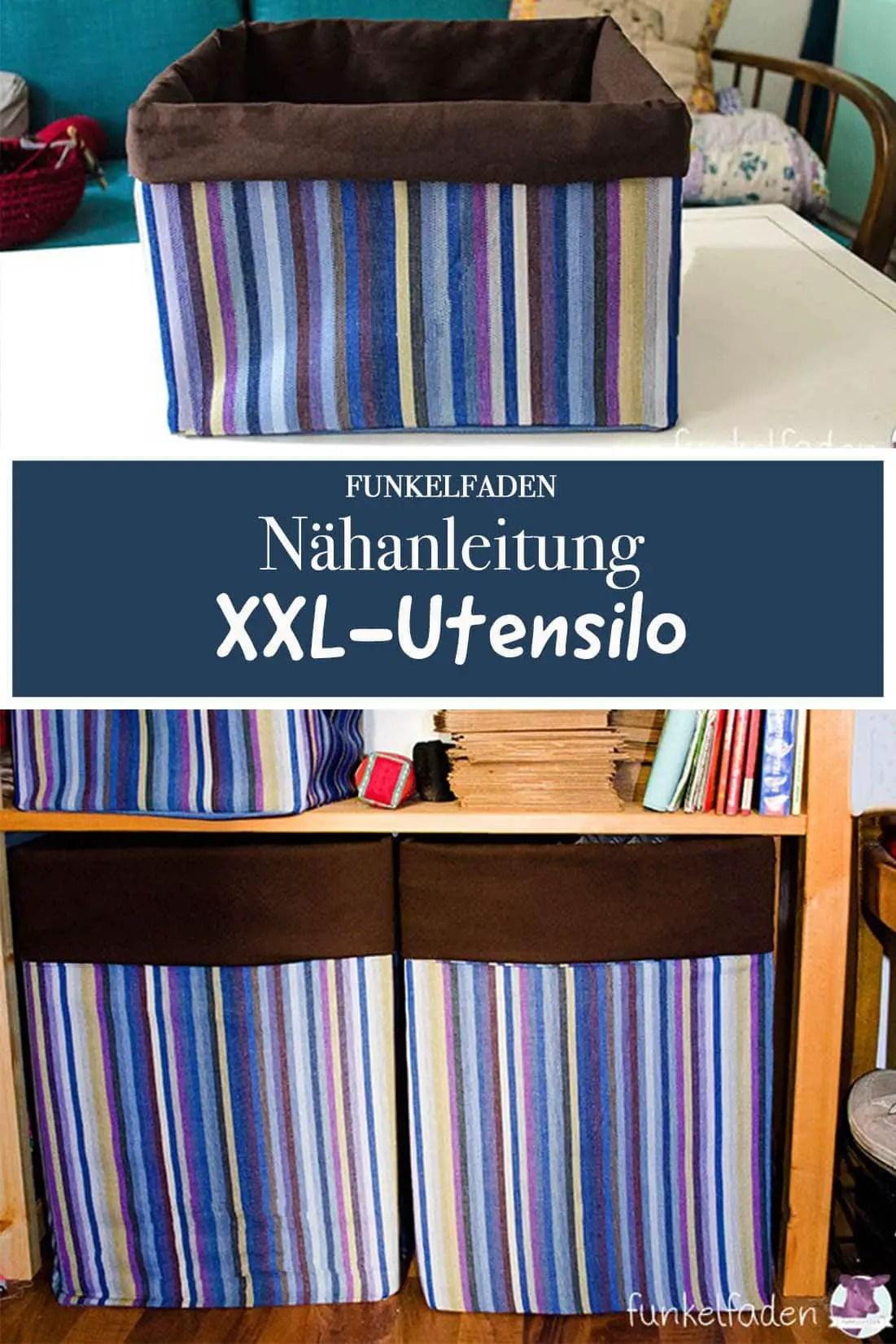 XXL-Utensilo nähen - Anleitung