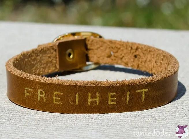 Anleitung -Armband aus Leder selber machen