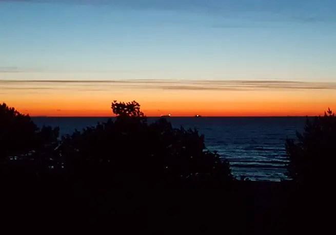 Sonnenaufgang an der Ostsee in Usedom