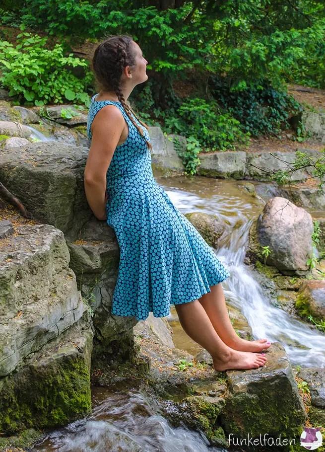 Genäht - Sommerkleid mit Tropfen