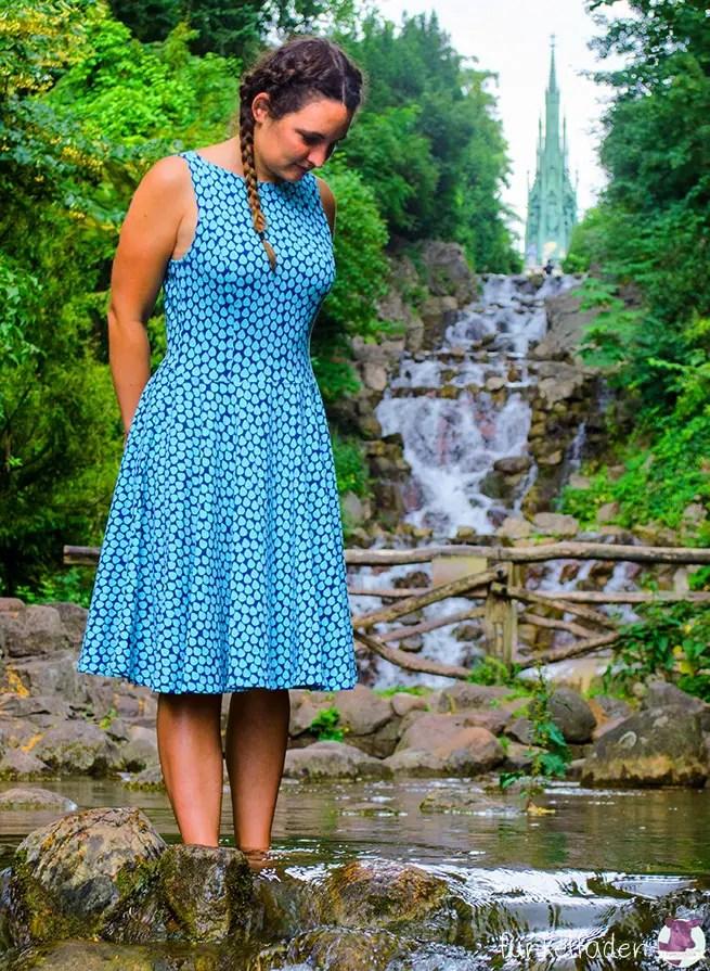 Selbstgenähtes Kleid auf dem Kreuzberg