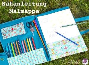 Nähanleitung - Malmappe für Stifte und Papier