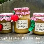 DIY – Herbstliche Filzanhänger für Apfelmus