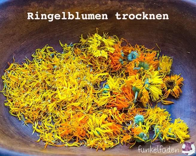 Getrocknete Ringelblumen DIY