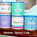 Upcycling – Bunte Vorratsdosen mit Masking Tape