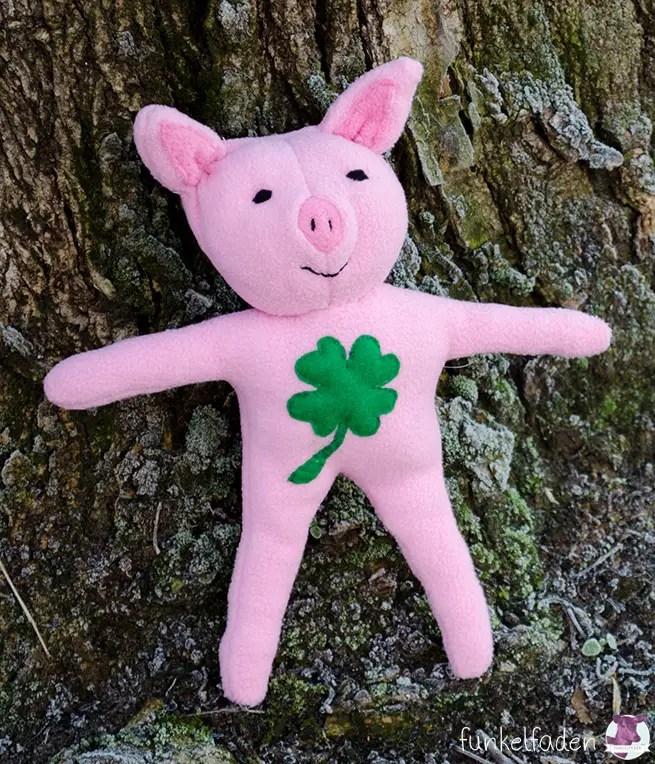 Kuscheltier Schwein nähen Freebook