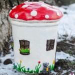 DIY – Kleines Pilzhaus aus einem Glas basteln