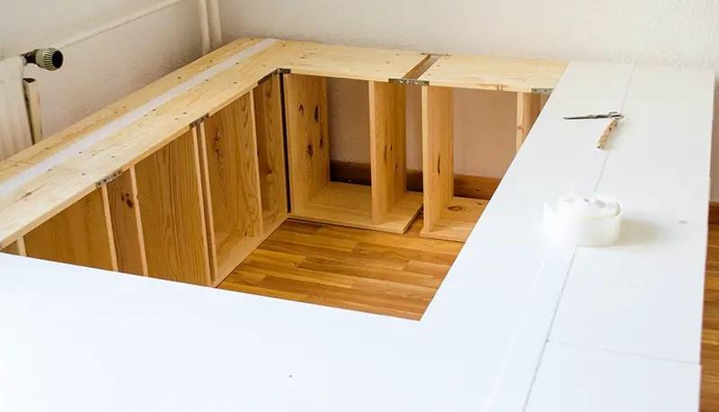 diy ikea hack plattform bett selber bauen aus ikea. Black Bedroom Furniture Sets. Home Design Ideas