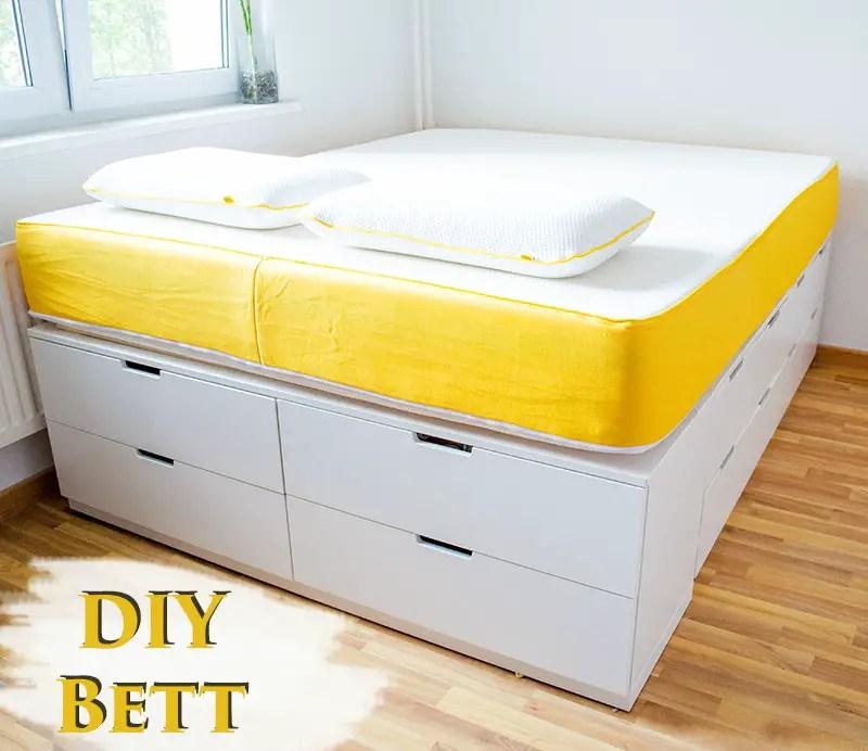 Diy Ikea Hack  Plattformbett Selber Bauen Aus Ikea